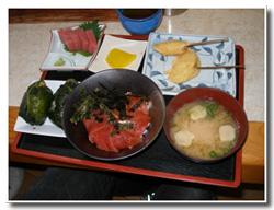めはり寿司&マグロ丼