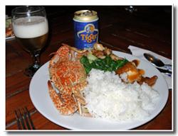 晩ご飯&タイガービール