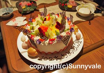 100本記念のケーキ