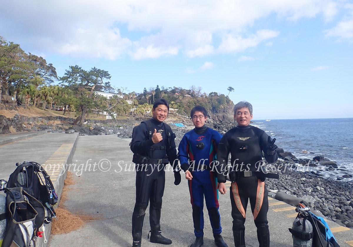 2020年のダイビングは、伊豆海洋公園からスタート