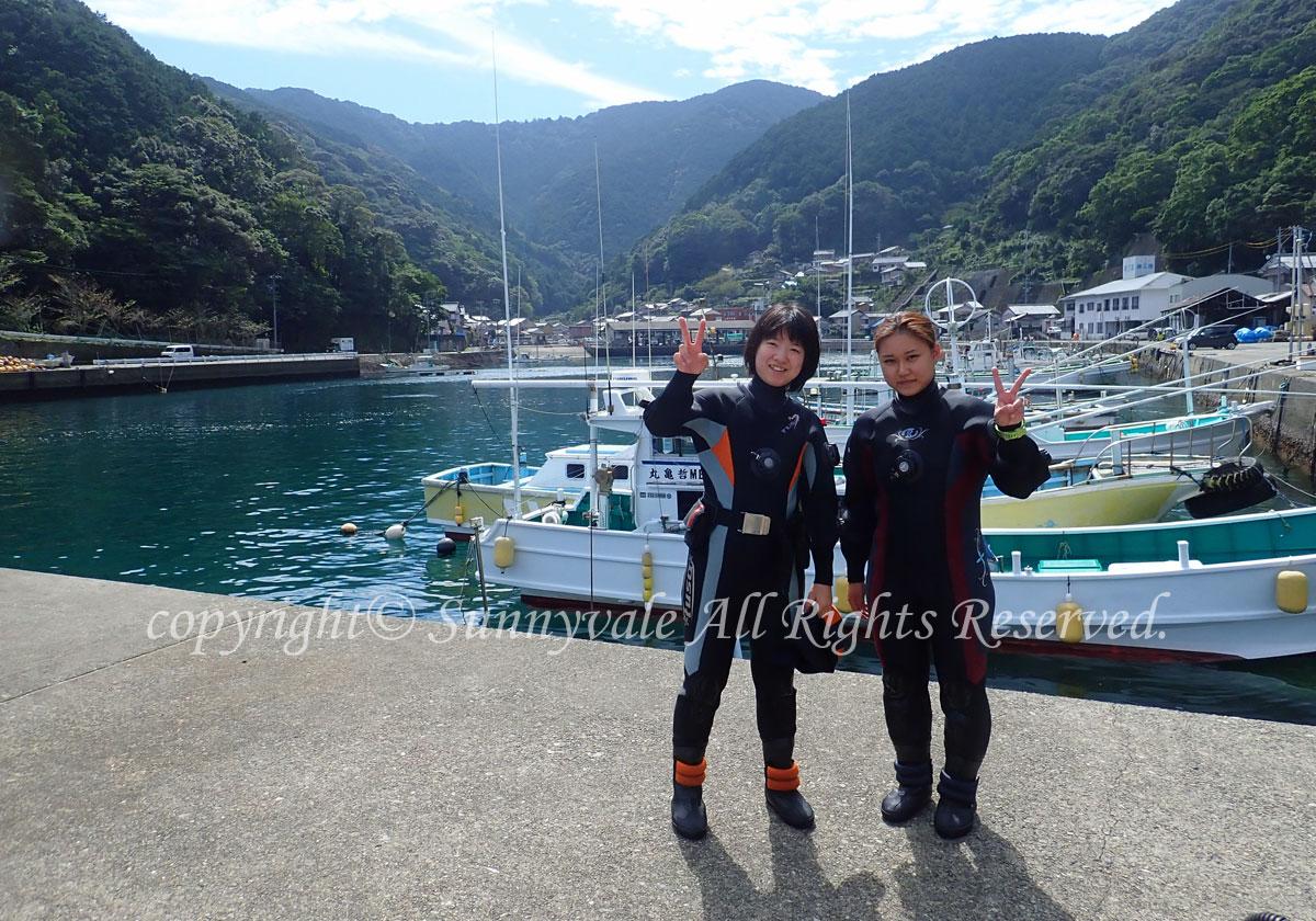 9月最後は、梶賀でボートダイビング