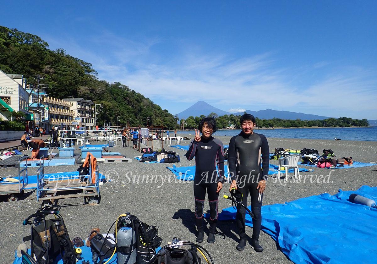 10月最初は、大瀬崎でダイバーデビュー