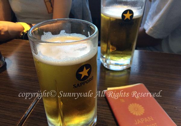 成田で乾杯