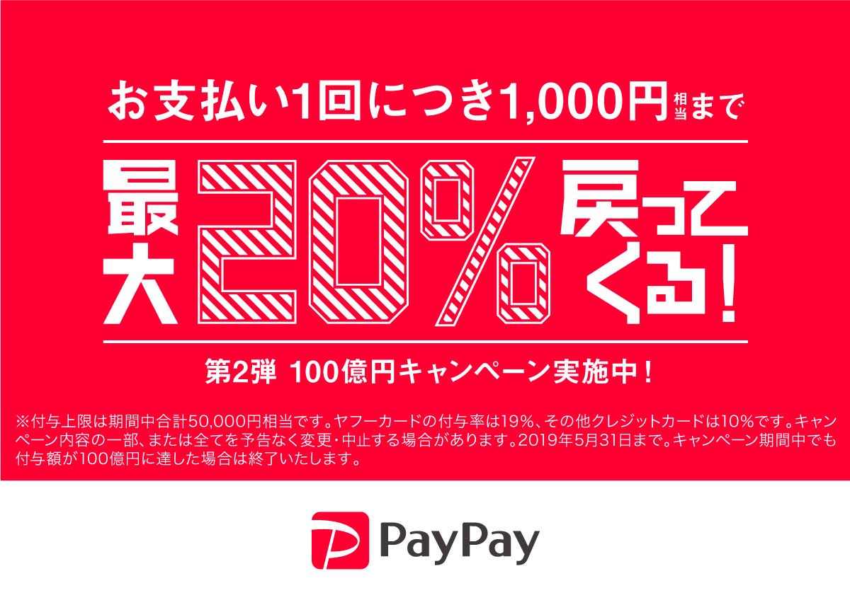 paypay100億円キャンペーン開催中